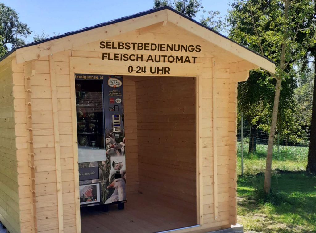 Freilandgaense Selbstbedienungsautomat 0-24 Uhr, Gustino-Fleisch