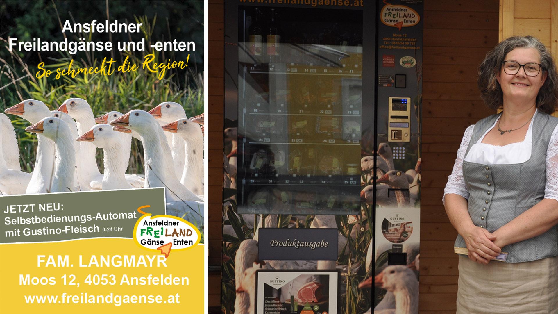 Ansfeldner Freilandgaense Automat Gustino Hofsaft